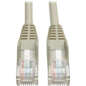 Tripp Lite 200ft Cat5e Cat5 Snagless Molded Patch Cable RJ45 M/M Gray 200'
