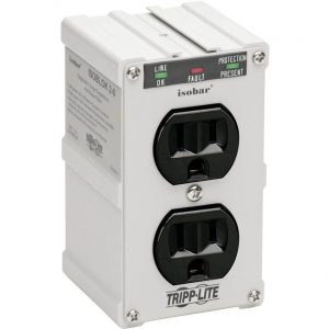 Tripp Lite Isobar Surge Protector Wallmount Direct Plug In 2 Outlet 1410 J