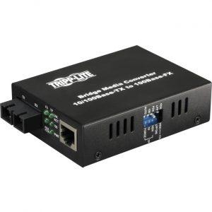 Tripp Lite Fiber Optic 10/100BaseT to 100BaseFX-SC Multimode Media Converter 2km 1310nm