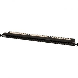 Tripp Lite 24-Port Cat6 Cat5 Patch Panel Rackmount 568A/B 110 Punch down RJ45 0.5URM