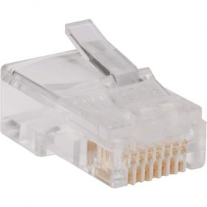 Tripp Lite RJ45 for Flat Solid / Standard Conductor 4-Pair Cat5e Cat5 Cable 100 Pack