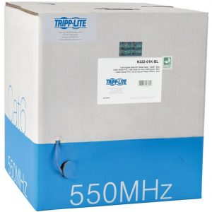 Tripp Lite 1000ft Cat6 550MHz Gigabit Bulk Solid PVC CMR Cable Blue 1000'