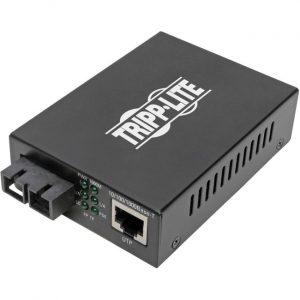 Tripp Lite SC Multimode Fiber to Gbe Media Converter POE+ 10/100/1000 2KM