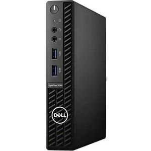 Dell OptiPlex 3000 3080 Desktop Computer - Intel Core i3 10th Gen i3-10100T Quad-core (4 Core) 3 GHz - 4 GB RAM DDR4 SDRAM - 128 GB SSD - Micro PC