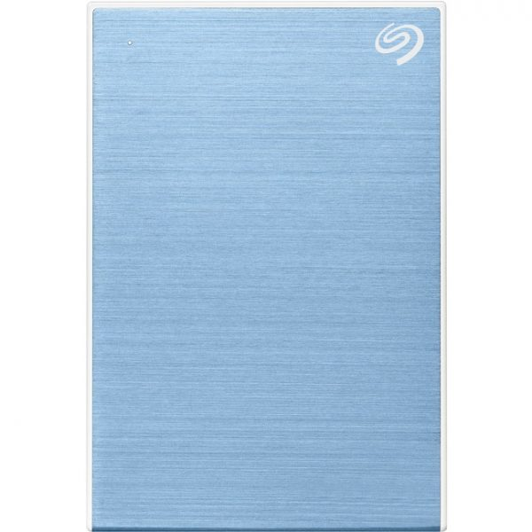 """Seagate One Touch STKC5000402 5 TB Portable Hard Drive - 2.5"""" External - Light Blue"""