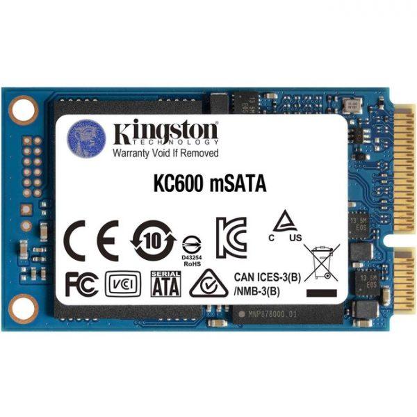 Kingston KC600 1 TB Solid State Drive - mSATA Internal - SATA (SATA/600)