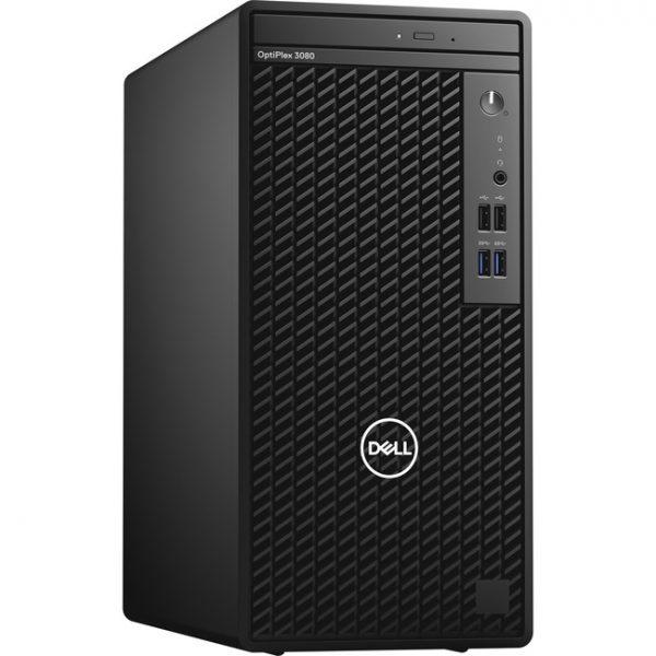 Dell OptiPlex 3000 3080 Desktop Computer - Intel Core i5 10th Gen i5-10505 Hexa-core (6 Core) 3.20 GHz - 8 GB RAM DDR4 SDRAM - 256 GB NVMe M.2 PCI Express M.2 SSD - Mini-tower - Black