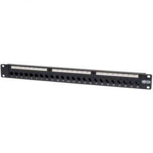 Tripp Lite 24-Port Cat5e Cat5 Feedthrough Patch Panel Rackmount 1URM RJ45 Ethernet TAA