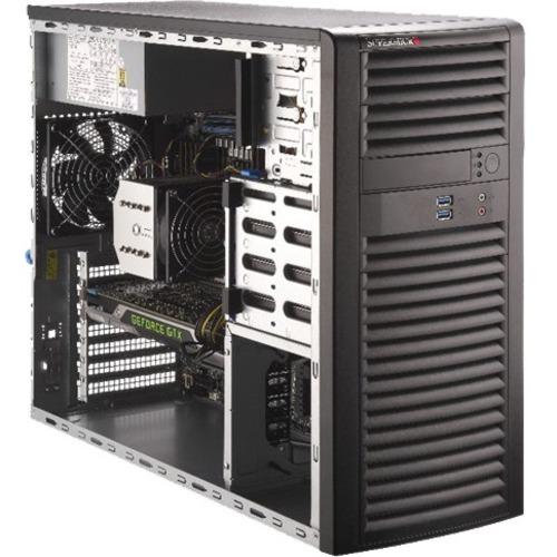 Supermicro SuperWorkstation 5039A-i Barebone System Mid-tower - Socket R4 LGA-2066 - 1 x Processor Support