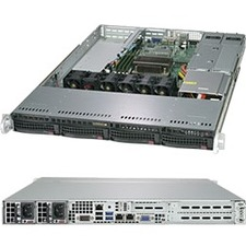 Supermicro SuperServer 5019C-WR Barebone System - 1U Rack-mountable - Socket H4 LGA-1151 - 1 x Processor Support