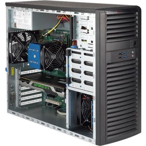Supermicro SuperWorkstation 5039C-T Barebone System Mid-tower - Socket H4 LGA-1151 - 1 x Processor Support