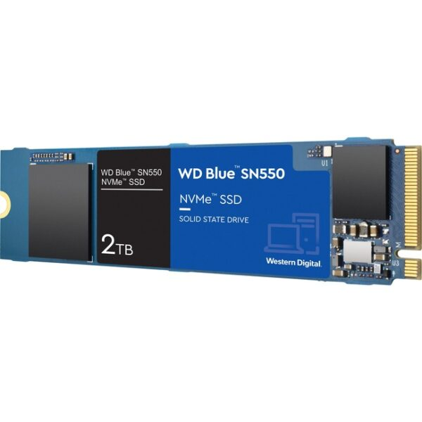 WD Blue SN550 WDS200T2B0C 2 TB Solid State Drive - M.2 2280 Internal - PCI Express NVMe (PCI Express NVMe 3.0 x4)