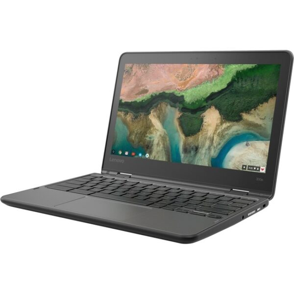"Lenovo 300e Chromebook 2nd Gen 81MB0067US 11.6"" Touchscreen Rugged 2 in 1 Chromebook - HD - 1366 x 768 - Intel Celeron N4020 Dual-core (2 Core) 1.10 GHz - 4 GB RAM - 32 GB Flash Memory - Black"